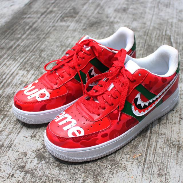 Custom Shoe Jordan Vans Supreme Bape Mens Fashion Footwear