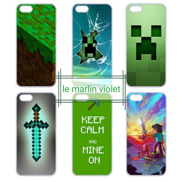 💜 Customise Phone Case Cover - Cute Minecraft Series