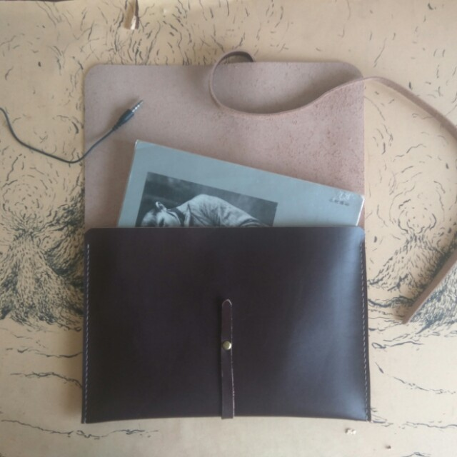 Customize Leather Clutch+Free Name Emboss