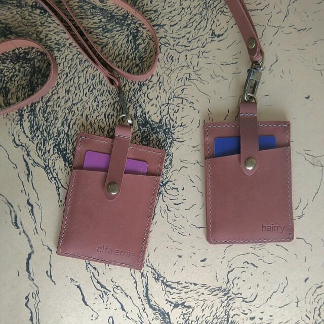 Customize Leather Lanyard +Free Name Emboss
