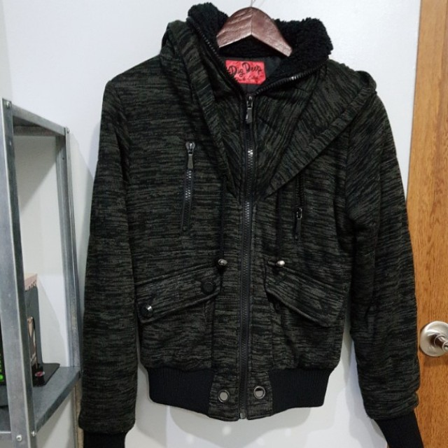 DIG DEEP Thick Jacket with faux fur neck lining (lined inner)