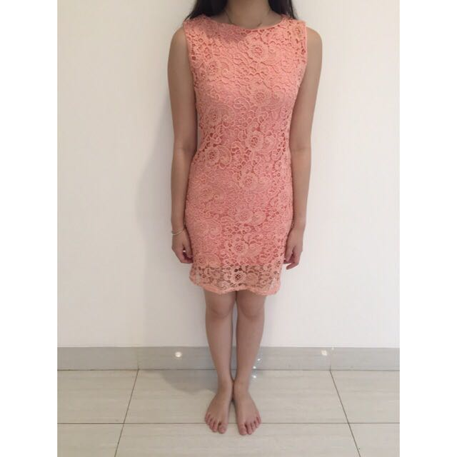 Dress Pink Cantik size S (no brand)