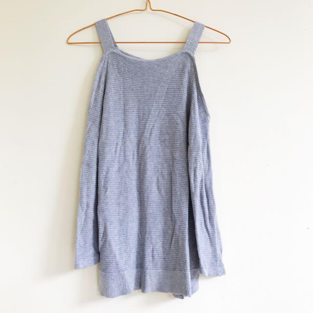 Etcetera knit top off shoulder