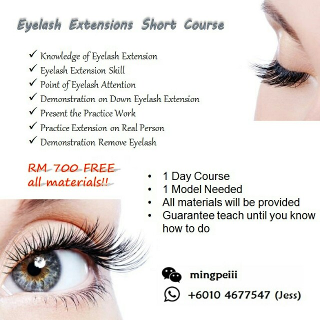 Eyelash Extensions Short Course Health Beauty Perfumes Nail