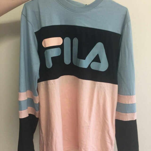 FILA long sleeve shirt, pastel colours