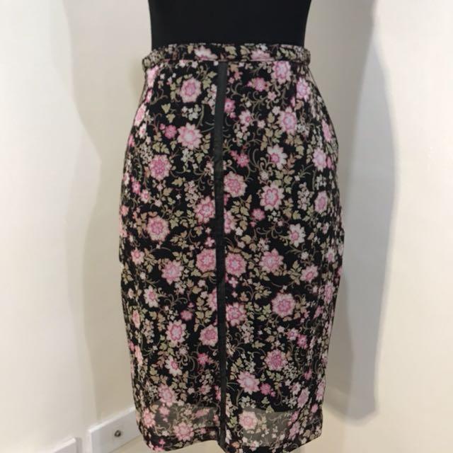 💐Floral skirt