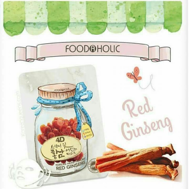 FOODAHOLIC 4D MASK (RED GINSENG)