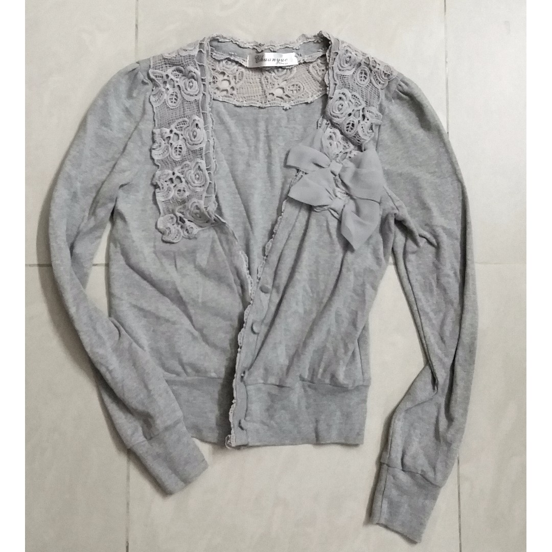 FREE POST Grey Detailed Cardigan/ Overcoat/ Outerwear