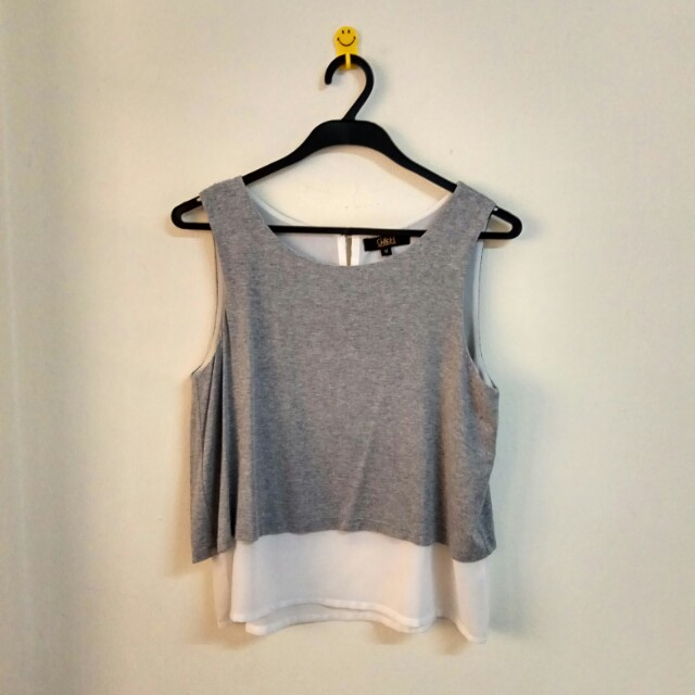 G&H, Double Layer Sleeveless Top, M Size