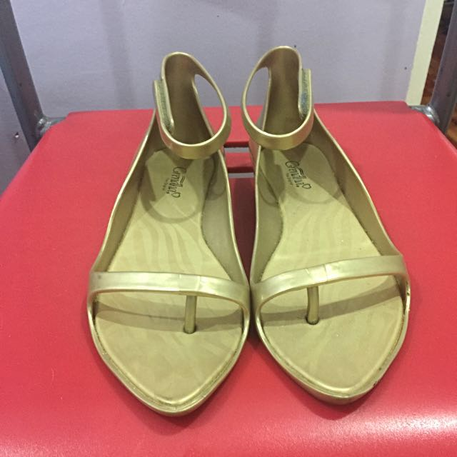 Grendha Gold Shoes Size 37