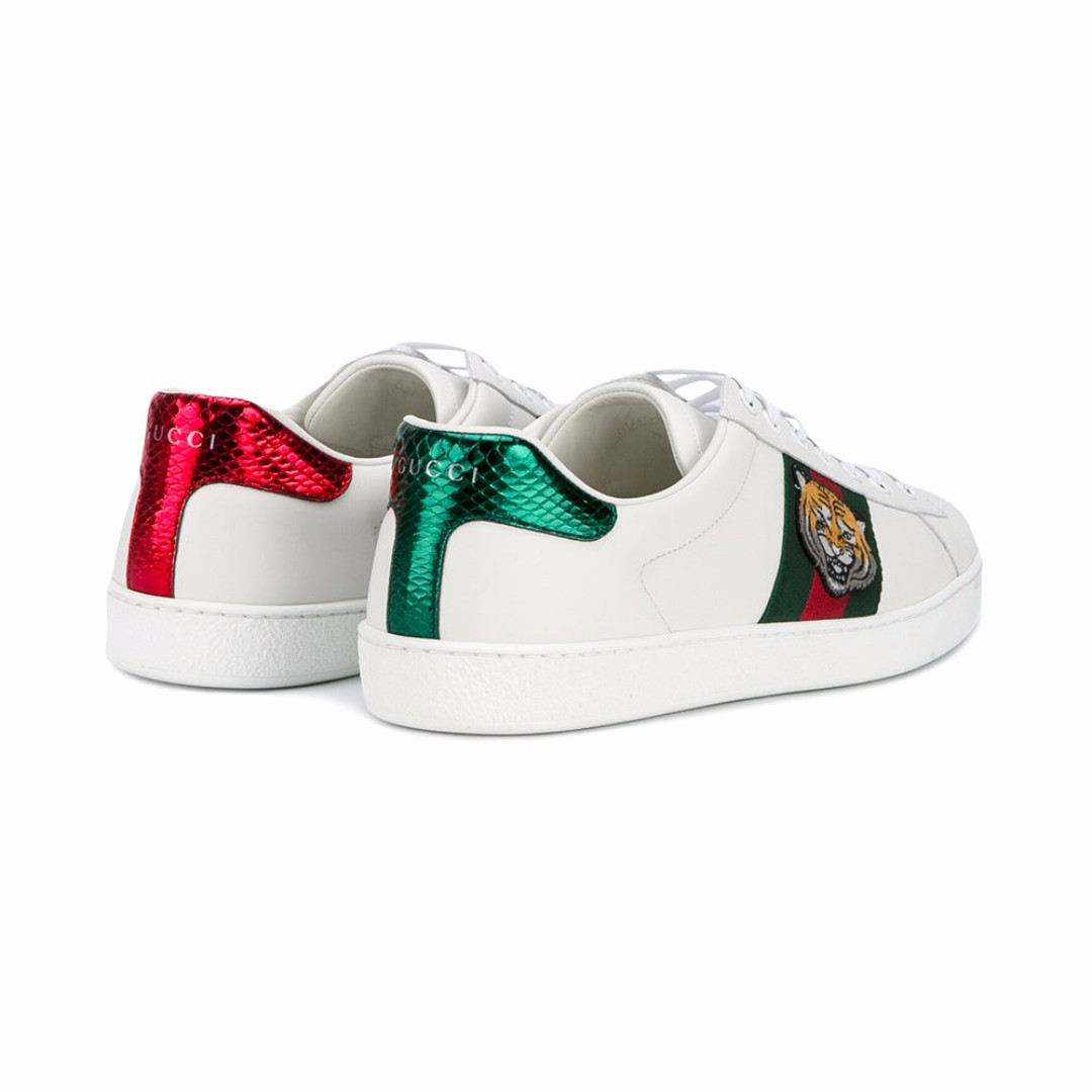 5b3ac227d4d3 GUCCI  Ace  tiger embroidered sneakers