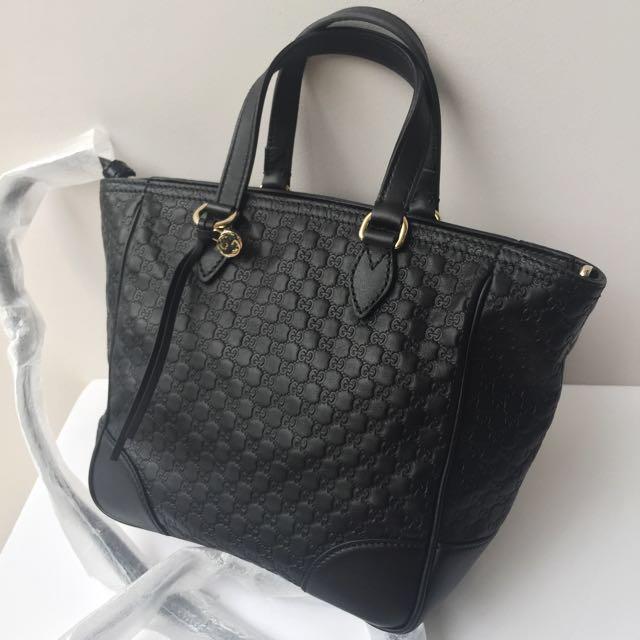 d06473123c8 GUCCI Black Leather Guccissima Crossbody Bag 100% AUTHENTIC+BRAND ...