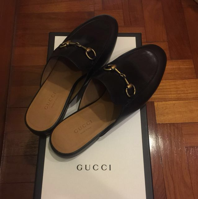 75b45bb0717 Gucci Princetown backless loafers