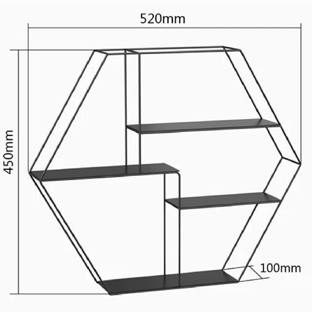 Hexagon metal wall shelf furniture home decor on carousell ccuart Image collections