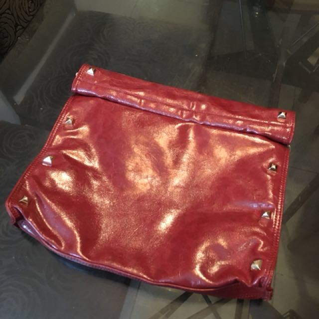 Hush Puppies Red Clutch NEW 5f530a0eaa