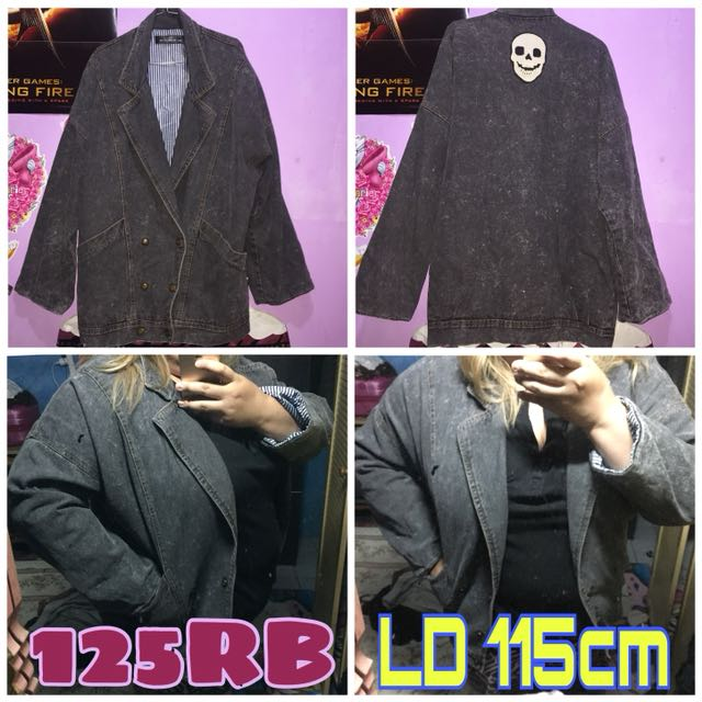Jaket Denim Jeans Big Size Jumbo
