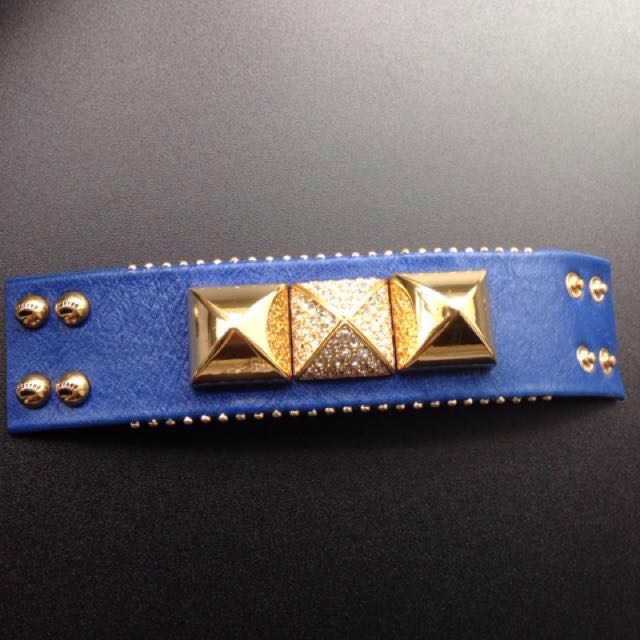 Juicy Couture studded leather bracelet