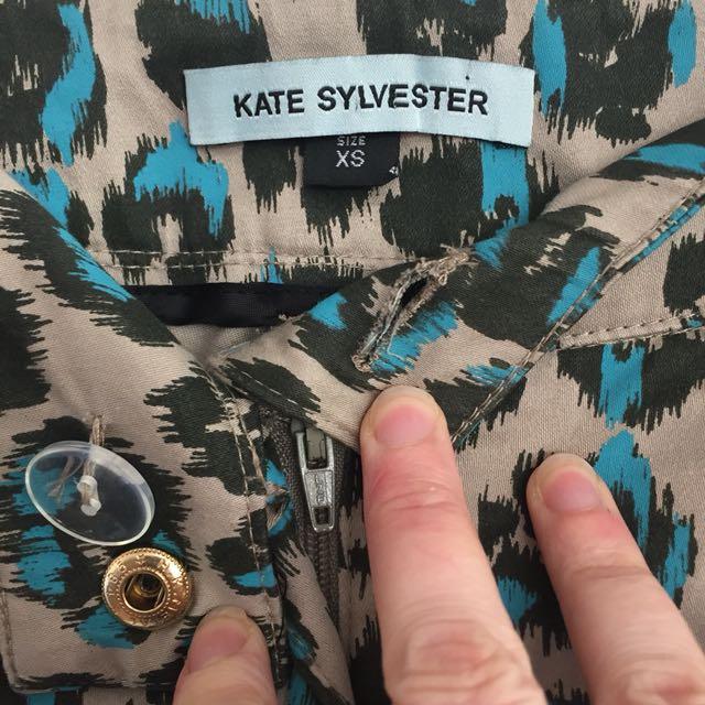 Kate Sylvester animal print pants