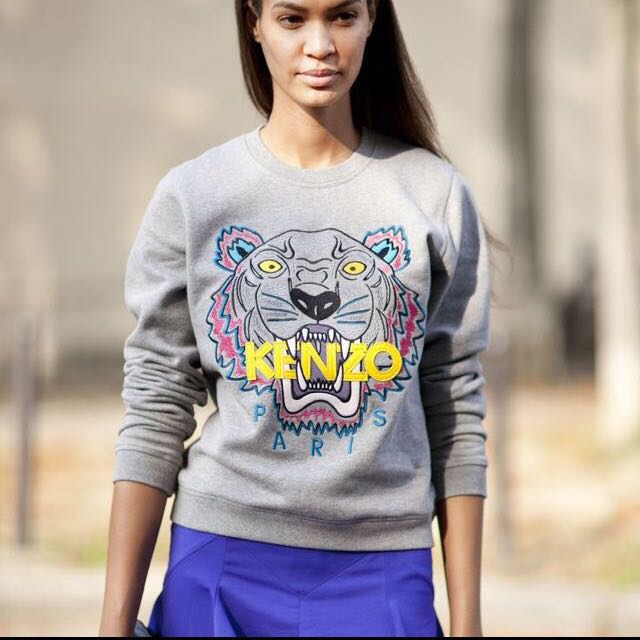 Kenzo grey tiger sweater