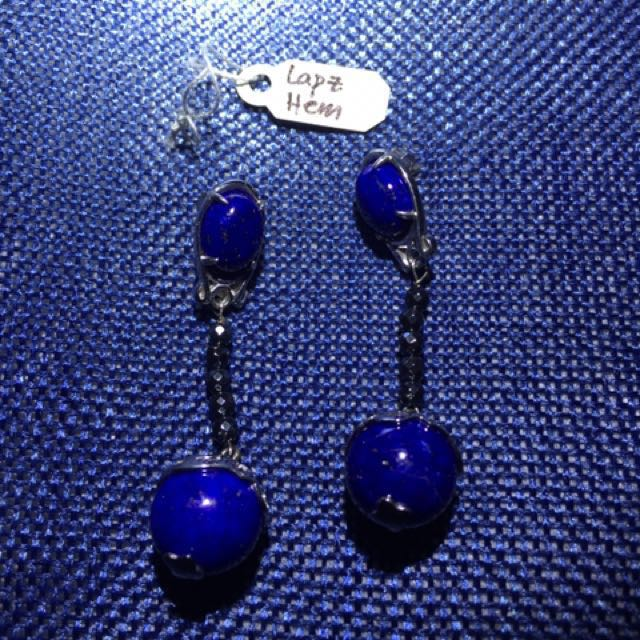 Lapiz Lazuli & Hematite Earrings