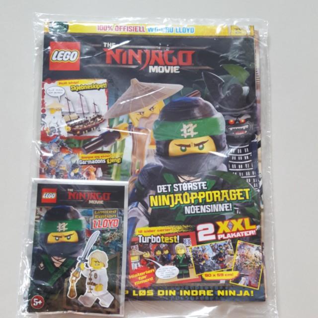 Lego Ninjago Movie magazine + 1 Limited Edition LLOYD