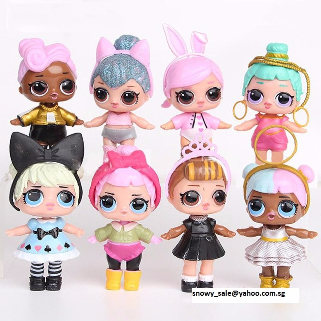 LOL Surprise Doll Cake Toppers / Figurines (8 Pcs A Set ...