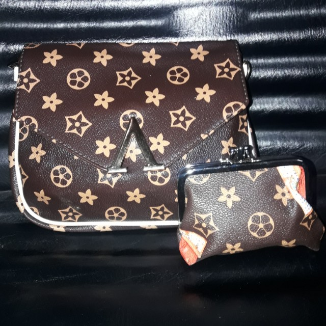Lv korean sling bag with coint purse