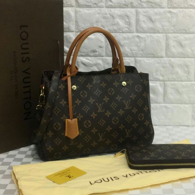 Lv Montaigne Purse Single Zip 41056 60017 Ready Stock Grade Aaa Material Pu Set With Women S Fashion Bags Wallets On Carou