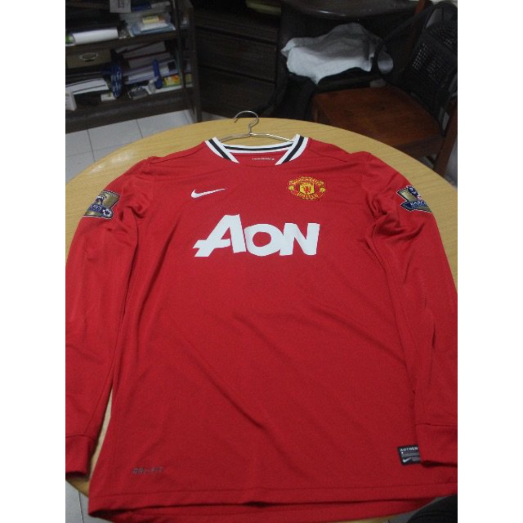 b33513c6150 Manchester United Home Shirt 11 12 Nike Long Sleeve - Authentic ...