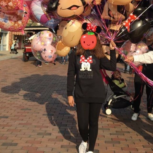 Minnie mouse long blouse :) thick cloth for cold weather (disneyland outfit)