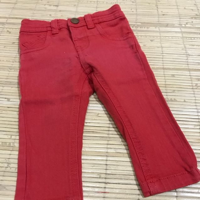 Mothercare red jeans