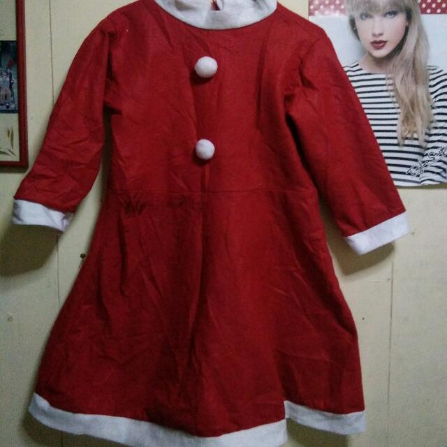 Mrs. Santa Claus Christmas Costume  For Kids