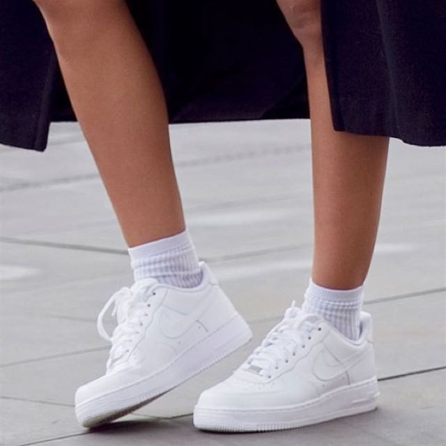 new product 17a0d 2e7a1 Nike Air Force 1 Low Full White, Womens Fashion, Shoes on Ca