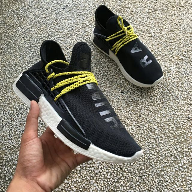 Nmd Human Race Black Yellow Men S Fashion Footwear On Carousell