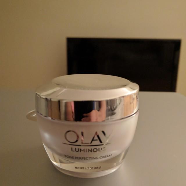 Olay luminous tone perfecting cream.