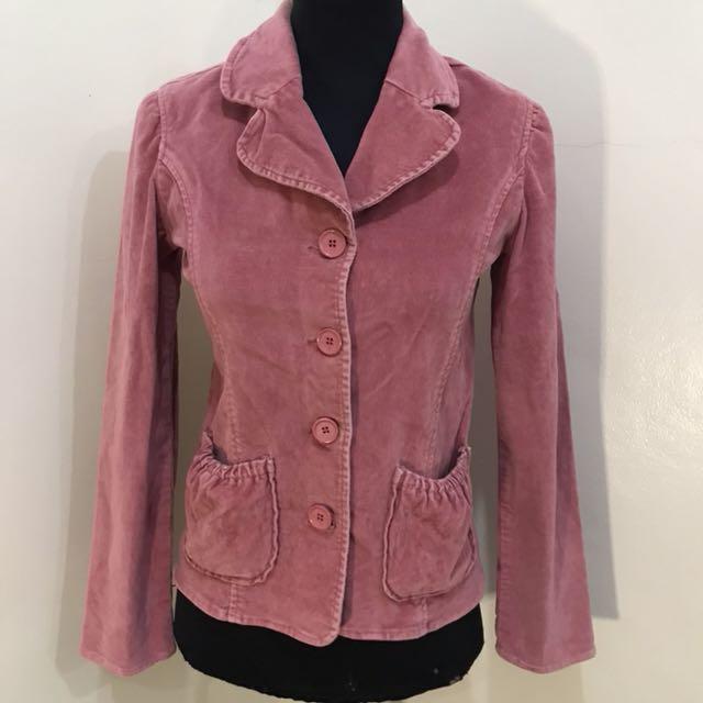 💖Old Navy suede pink jacket