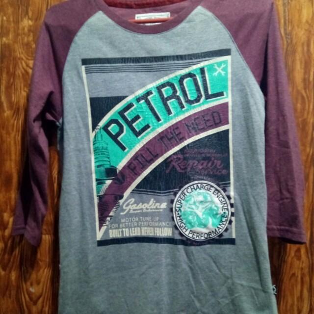 Petrol 3/4 Maroon Shirt