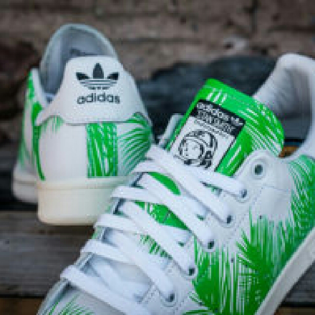 642b30893 Pharrell Williams x adidas Originals Stan Smith BBC Palm Tree Pack ...