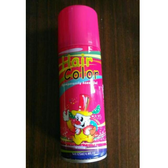 Pink Colored Hair Spray