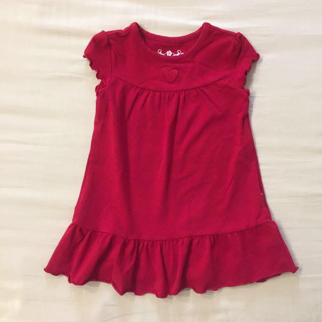 PLACE 12M 暗紅色洋裝
