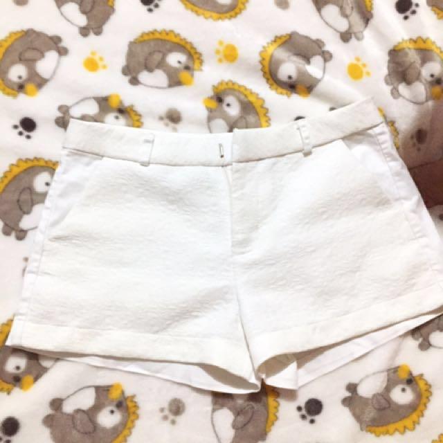Plains & Print white short
