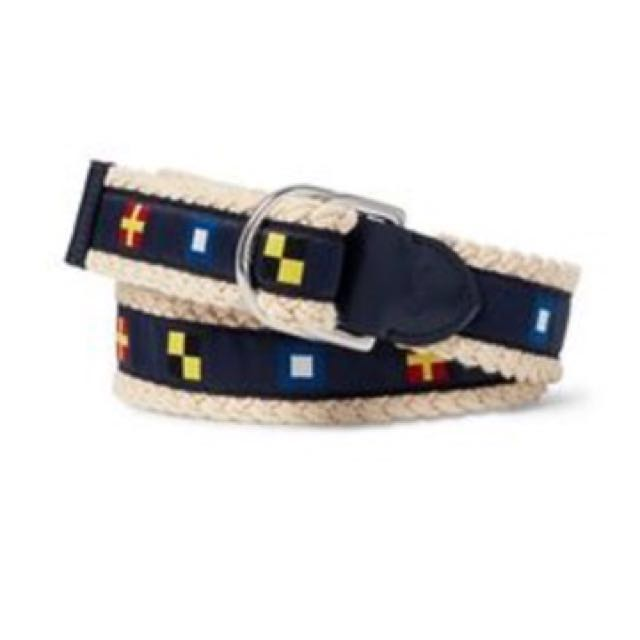 062592f7 Polo Ralph Lauren Nautical Braided Rope Belt Men's Chat Navy (Large ...