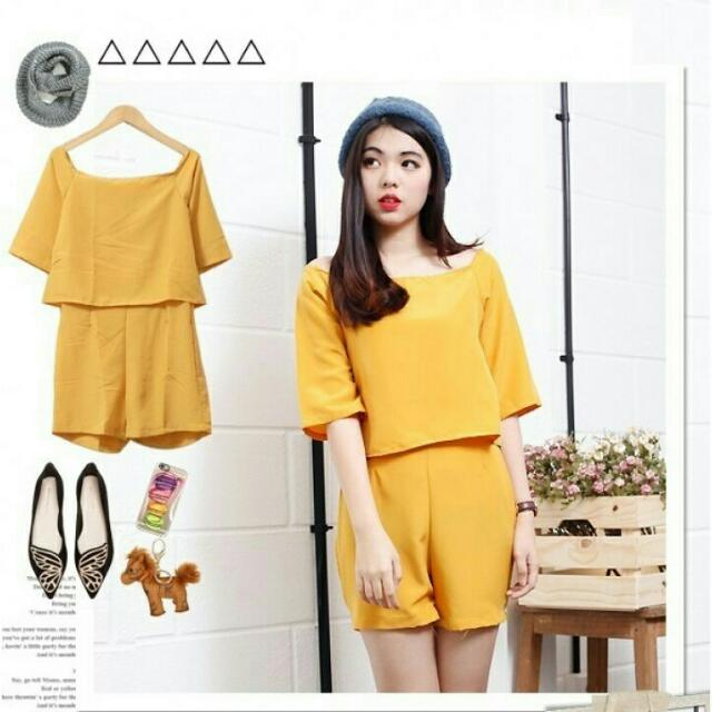 Preloved Jumpsuit Yellow