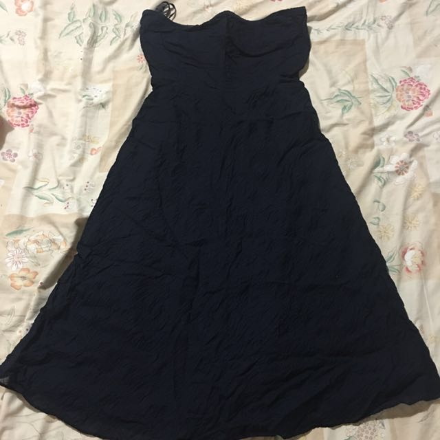 Pre-loved Midnight Blue Tube Dress (Perfect for formal occassions)