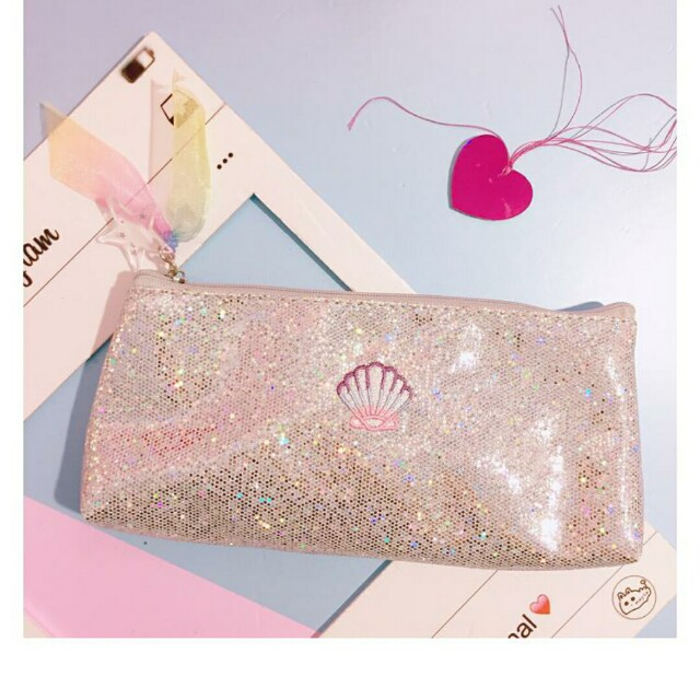 preorder tumblr glittery pencil case books stationery stationery