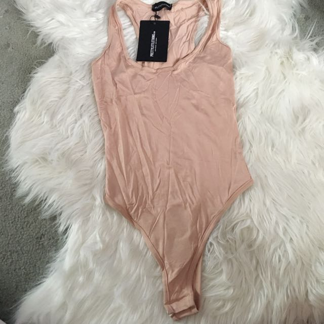 Pretty Little Thing Nude Racerback Bodysuit