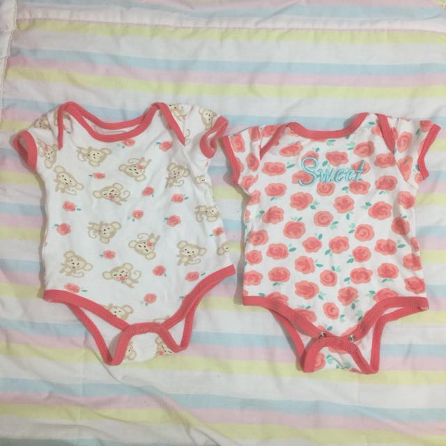 PURE Onesies For Baby Girl 0-3mos
