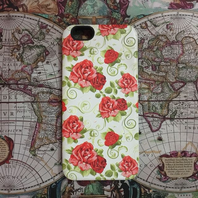 Red Floral Case for iPhone 6
