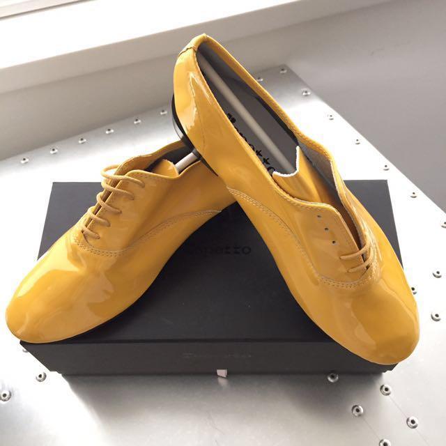 repetto 全真皮漆皮紳士鞋