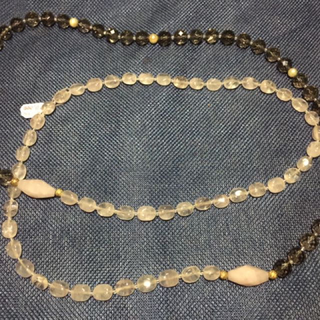 Rose Quartz and Smoky Quartz Necklace
